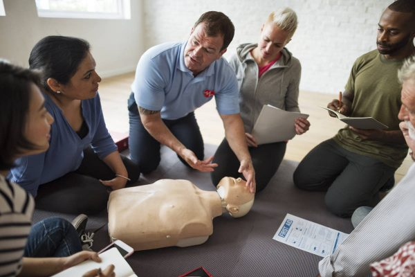 CPR FirstAid Training Concept